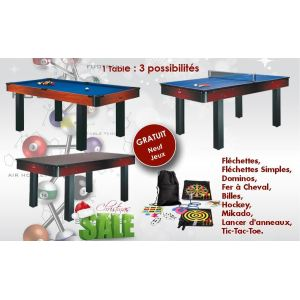 Supreme Billard Pool américain Kent 6ft transformable