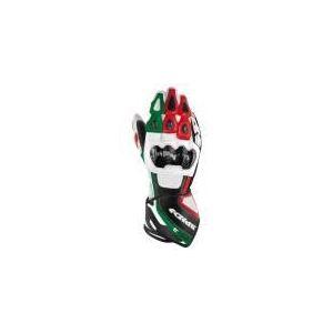 Spidi Carbo 3 (drapeau italien) - Gants moto racing en cuir pour homme
