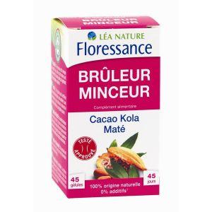Floressance Brûleur Minceur - 45 gélules cacao, kola, maté
