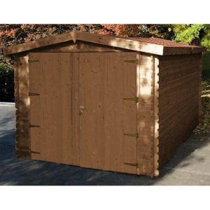 Chalet et Jardin Épervier - Garage en bois traité 34 mm 12,96 m2