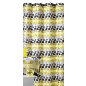 Homemaison Rideau d'ameublement motifs triangles 140 x 260 cm