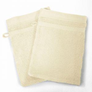 Douceur d'Intérieur Vitamine Set de 2 Gants 450 g Coton Uni Naturel 15 x 21 x 21 cm