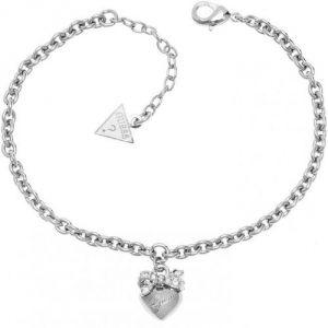 Guess UBB21570 - Bracelet gourmette Coeur en métal argenté pour femme
