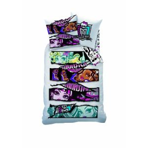 Cti Monster High White Velvet - Housse de couette et taie (140 x 200 cm)