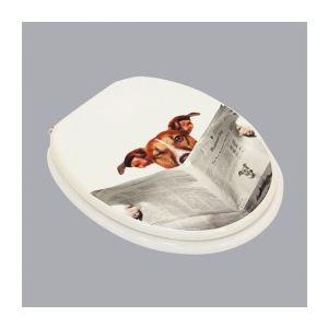 Abattant WC Chien en MDF