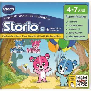 Vtech Jeu tablette Storio 2 : J'apprends à écrire avec Nino et Nina