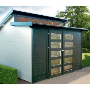 Solid S8246 - Abri de jardin Milano en bois 28 mm 9,19 m2
