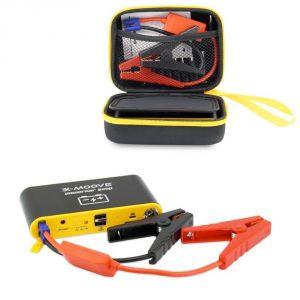 X-moove Powercar Jump 11000 mAh - Batterie externe pour démarrer votre voiture ou recharger vos appareils (compatible tablette, smartphone...)