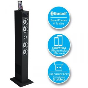 SoundVision Soundtower50 - Station d'accueil tour 2.1 Bluetooth pour iPod/iPhone/iPad 60W rms