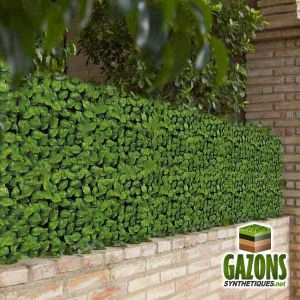 France Green Haie artificielle Feuilles de Rosier 1,50 x 3 m