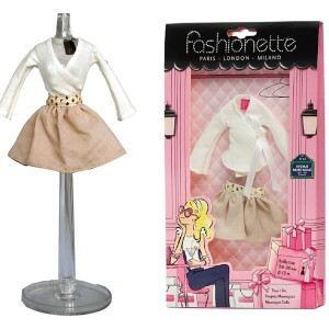 """Fashionette Look """"Emma"""" : Jupe courte ample et cache coeur pour Barbie, Steffi, Disney Princesse et Pulipp"""