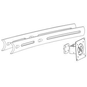 Ergotron DS100 - Support pour TV / ordinateur portable / tablette / écran PC
