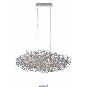 Lucide Galileo - Suspension forme nuage en fil d'aluminium 120 cm