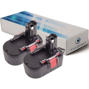Visiodirect Lot de 2 batteries 3000mAh 14.4V pour Bosch PSB 14.4V perceuse à percussion
