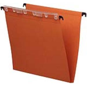 L'Oblique AZ Paquet de 25 dossiers suspendus Défi pour armoire en karft (fond : 15 mm)