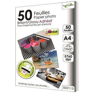 Waytex 76017 - 50 Feuilles papier Photo Brillant adhésif A4 150gr