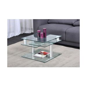 Table basse Dino en verre multipositions