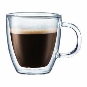 Bodum 10604-10 - 2 mugs double paroi Bistro avec anse (31 cl)