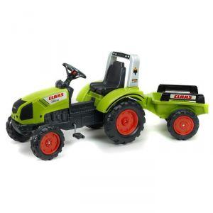 Falk Tracteur à pédales Claas Arion 430 avec remorque