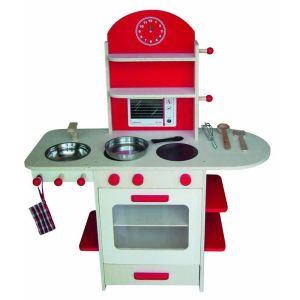 Roba 98207 - Cuisine en bois naturel avec accessoires