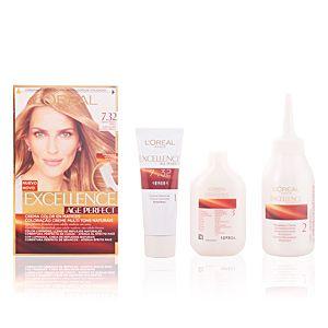 L'Oréal Excellence Age Perfect 7.32 Blond Doré Perlé - Crème colorante triple protection