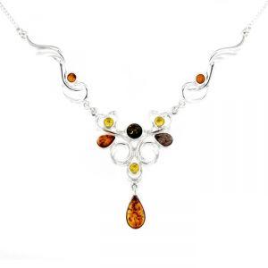 Rêve de diamants COBA01035 - Collier en argent 925/1000 et ambre véritable