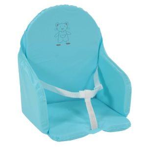 Coussin chaise turquoise comparer 52 offres - Coussin de chaise haute avec sangles ...