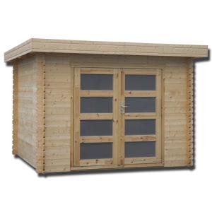 Decor et jardin 64457S000 - Abri de jardin en bois massif 28 mm 8,88 m2