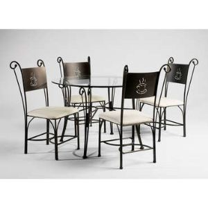 Table ronde Café et 4 chaises