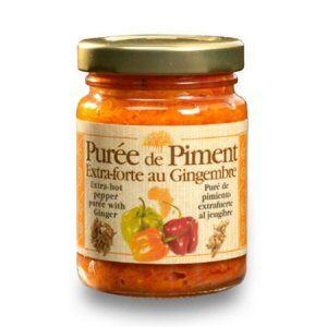 Puree de piment extra-forte au gingembre