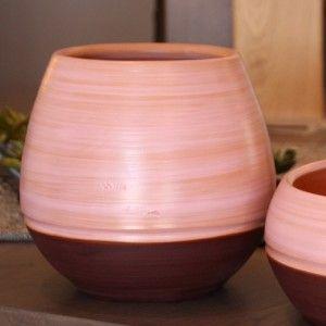Clair de Terre Boldo - Poterie en terre cuite émaillée forme pot droit Ø16 x 21 cm