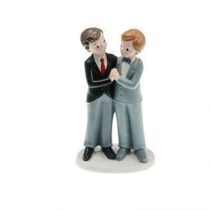 Chaks 80178 - Figurine en résine Couple de mariés Gay main dans la main Garçons (17 cm)