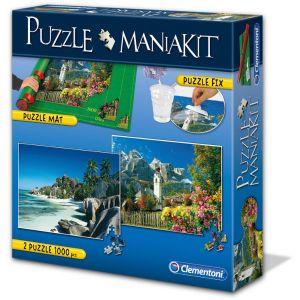 Clementoni Mania Kit : 2 Puzzles + 1 tapis de puzzle 1500 pièces