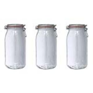 Le Parfait 3 bocaux en verre avec couvercle (3 L)