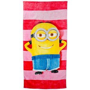 United Labels Serviette de plage Minions Dave Beach Towel  (75 x 152 cm)