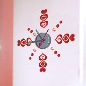 Horloge murale sticker Design Cupidon
