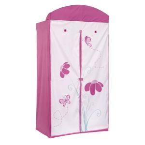 Worlds Apart Armoire Fleurs et Papillons 2 portes en tissu