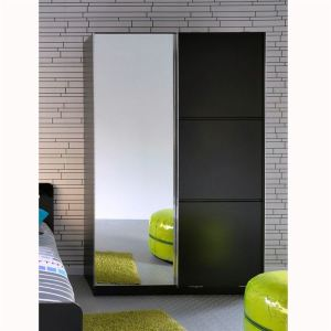 armoire start 2 portes 1 miroir 121 x 200 cm comparer avec. Black Bedroom Furniture Sets. Home Design Ideas