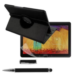 Kwmobile 16810 - Housse en cuir 360° Premium avec fonction support, film de protection et stylet pour Samsung Galaxy Note 10.1 P600 Edition 2014