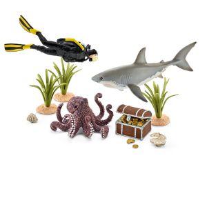 Schleich 42329 - Plongeur à la recherche de trésor