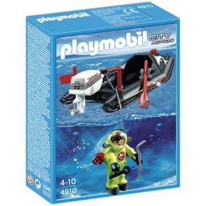 Playmobil 4910 - Bateau pneumatique avec scaphandrier