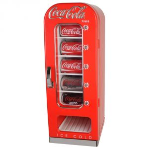 La Chaise Longue Mini frigo distributeur de canettes Coca-Cola métal rétro