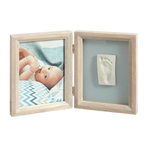 Baby Art Print Frame Stormy - Cadre photo avec empreinte my baby touch