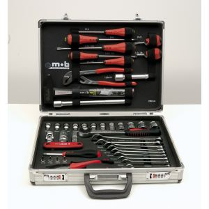 Mob 9530051001 - Mallette à outils aluminium 51 pièces