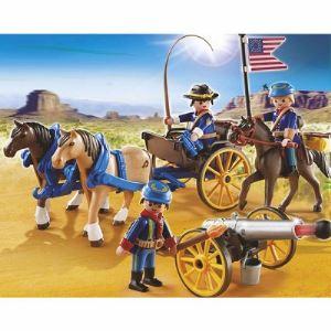 Playmobil 5249 Western - Soldats Américains avec canon