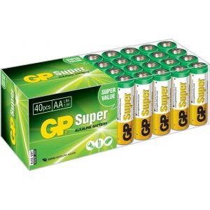 Super Alkaline Multipack pack de 40 batteries AA
