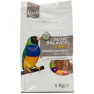 Aimé Nutri'balance Expert - Mélange de graines pour oiseaux exotiques 1 kg