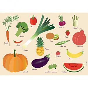 Fruits et Légumes - Set de table pour enfant (31 x 43 cm)
