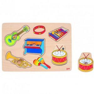 Goki Puzzle à encastrement : les instruments de musique