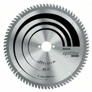 Bosch 2608641765 - Lame de scie circulaire Optiline Wood, 254 x 30 x 3,2 mm 60 dents